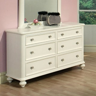 Athena White 6-Drawer Dresser