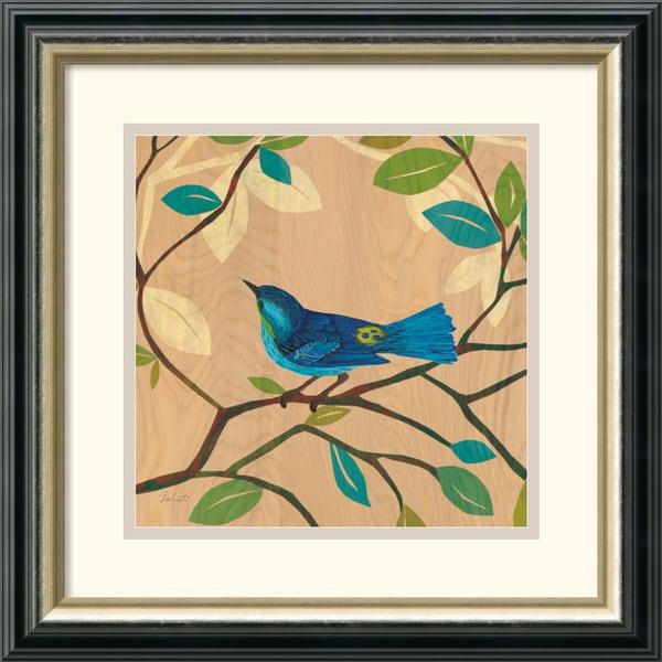 D. Salusti 'Songbird IV' Framed Art Print