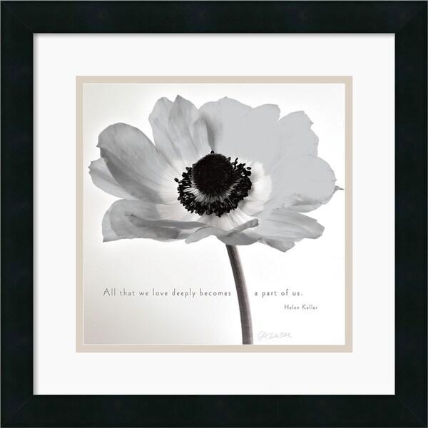 Deborah Schenck 'Poppy Love' Framed Art Print