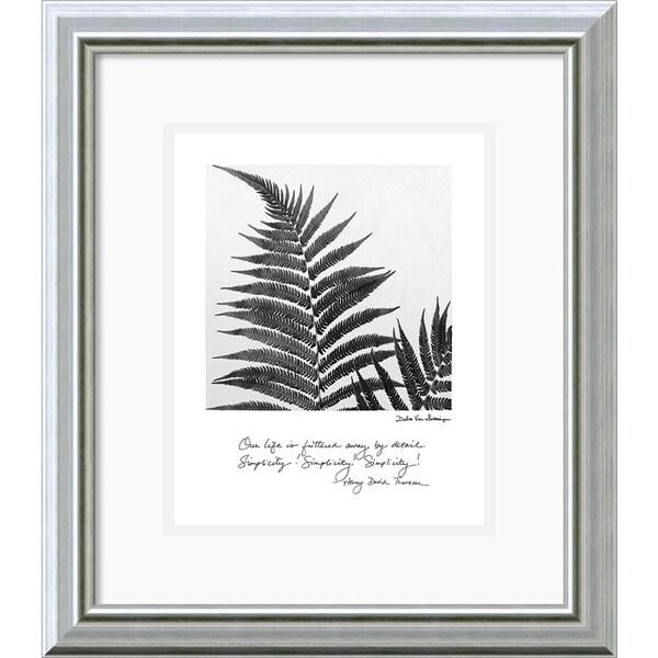 Debra Van Swearingen 'Delicate Ferns' Framed Art Print