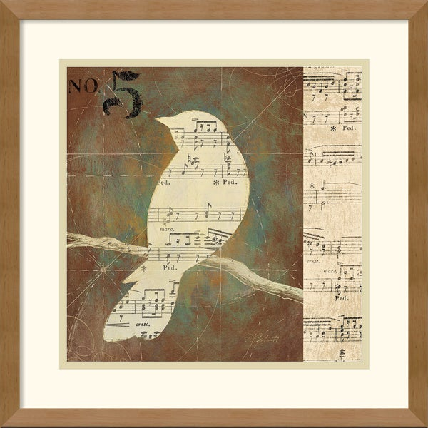 D. Salusti 'Bird Silhouettes II' Framed Art Print