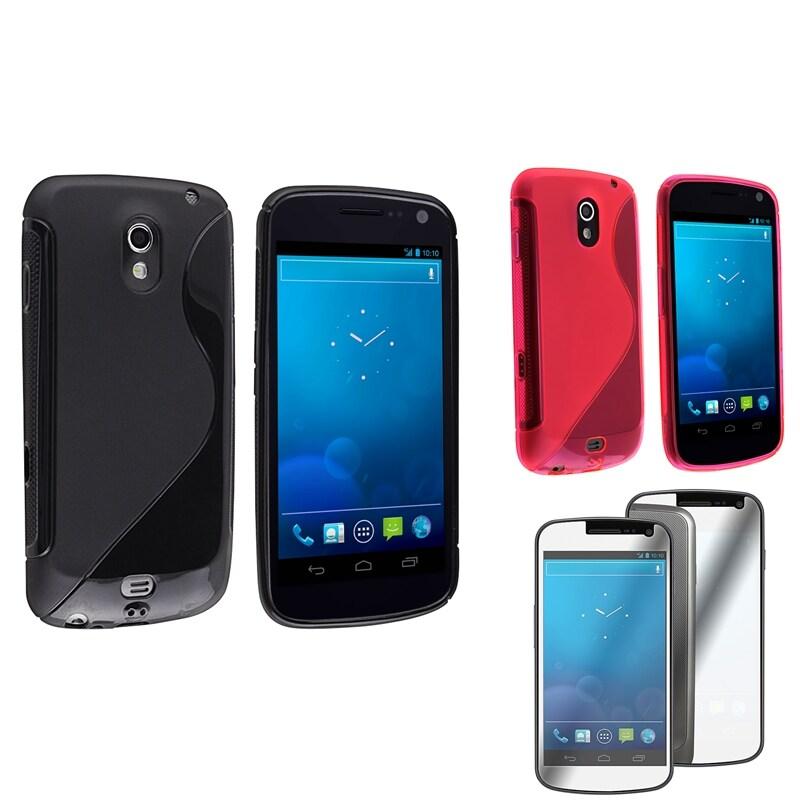 Black/ Pink Case/ Screen Protector for Samsung Galaxy Nexus 4G i9250