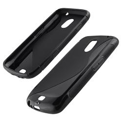Black/ Purple Case/ Screen Protector for Samsung Galaxy Nexus 4G i9250