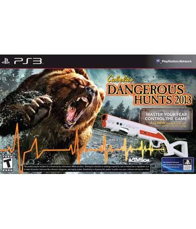 PS3 - Cabela's Dangerous Hunts 2013 with Top Shot Fearmaster Peripheral