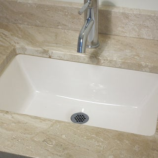Highpoint Collection 19 x 11-inch Undermount Bisque Lavatory Vanity Sink