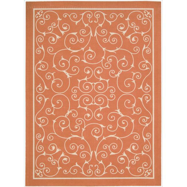 Nourison Home and Garden Indoor/Outdoor Orange Rug (5'3 x 7'5)