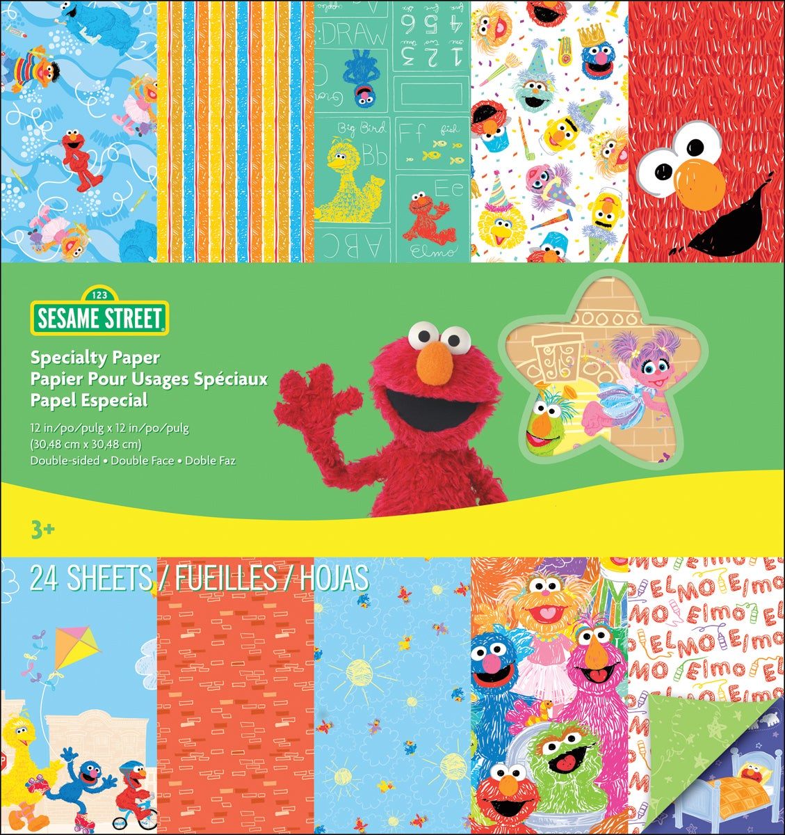 "Sesame Street Double-Sided Specialty Paper Pad 12""X12""-24 Sheets"