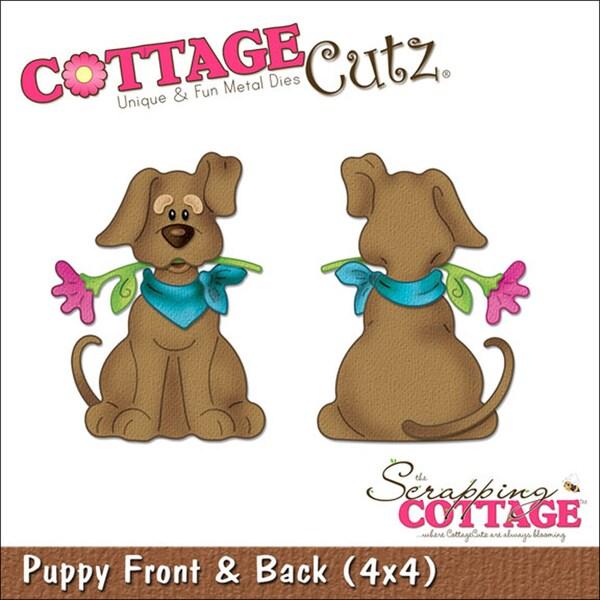 """CottageCutz Die 4""""X4""""-Puppy Front & Back"""