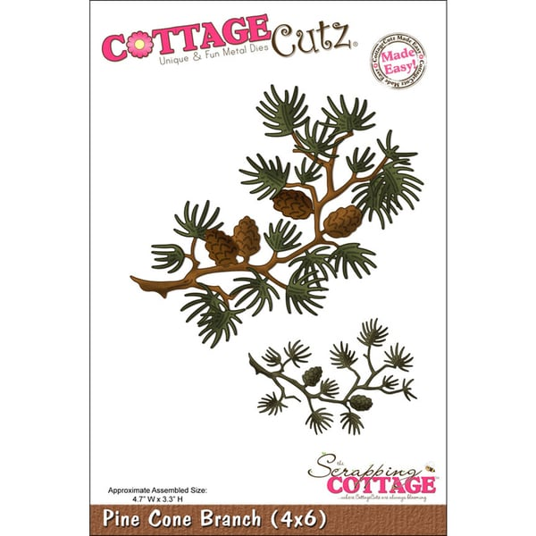 "CottageCutz Die 4""X6""-Pine Cone Branch Made Easy"