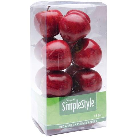 Design It Simple Decorative Fruit 15/Pkg-Mini Red Apple