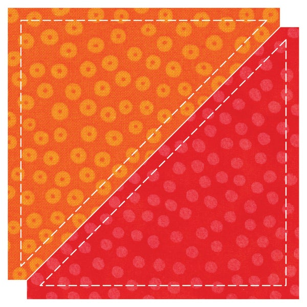 "GO! Fabric Cutting Dies-Half Square -4-1/2"" Finished Triangle"