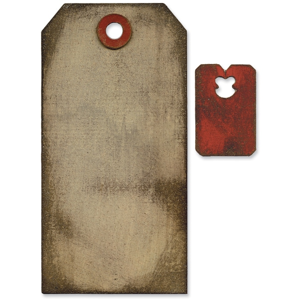 Sizzix Movers & Shapers Base Die By Tim Holtz-Tag & Tie