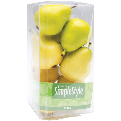 Design It Simple Decorative Fruit 9/Pkg-Yellow/Green Pears