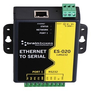 Brainboxes Ethernet 1 Port RS232 10xScrew Terminals
