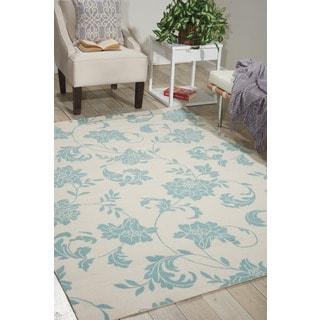 Nourison Home and Garden Ivory Indoor/Outdoor Rug (5'3 x 7'5)