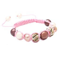 Karma Collection: Pink Chocolate Crystal Edition Macrame Bracelet