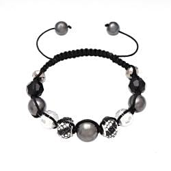 Karma Collection Black Crystal Edition Macrame Bracelet - Thumbnail 1