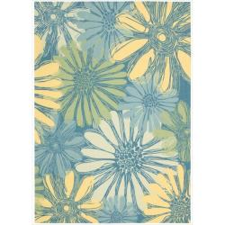 Nourison Home And Garden Blue Indoor Outdoor Rug 7 9 X