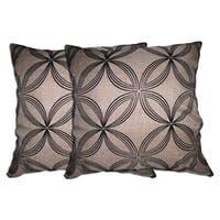 Beige Geometric Decorative Pillow (Set of 2)