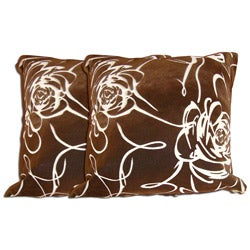 Decorative Polyester Throw Pillow (Set of 2)
