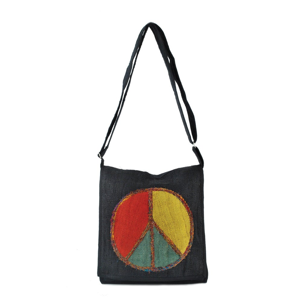 Rasta Peace Messenger Bag (Nepal)