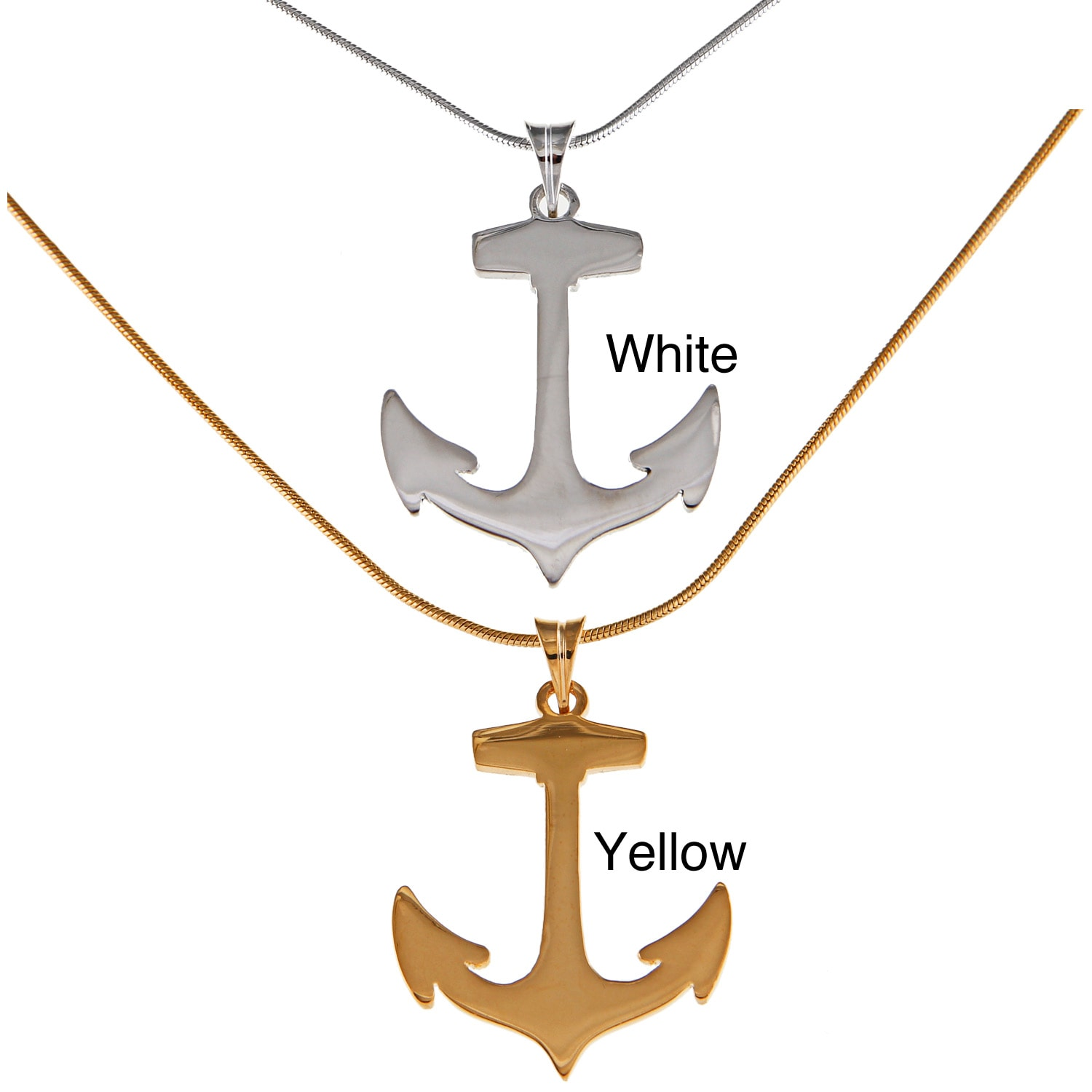 Decadence Sterling Silver Anchor Pendant