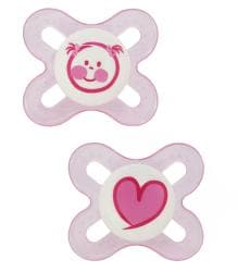 MAM Start Orthodontic Silicone Pacifiers (Pack of 2)