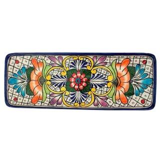 Handmade Ceramic 'Guanajuato Flora' Talavera Serving Plate (Mexico) https://ak1.ostkcdn.com/images/products/6799770/P14335035.jpg?_ostk_perf_=percv&impolicy=medium