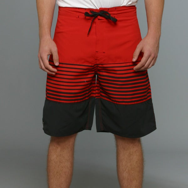 Zonal Men's Channel Boardshorts in High Risk Red