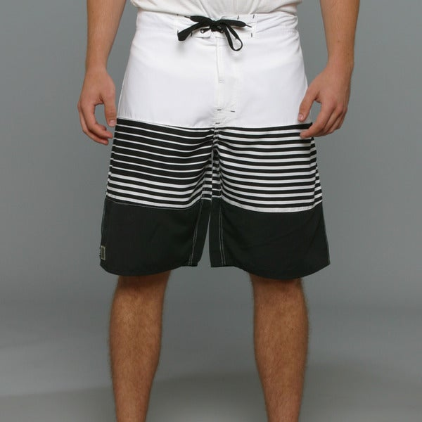Zonal Men's Channel Boardshorts in Bright White