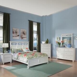 TRIBECCA HOME Piston Cottage White Queen-size 5-piece Bedroom Set