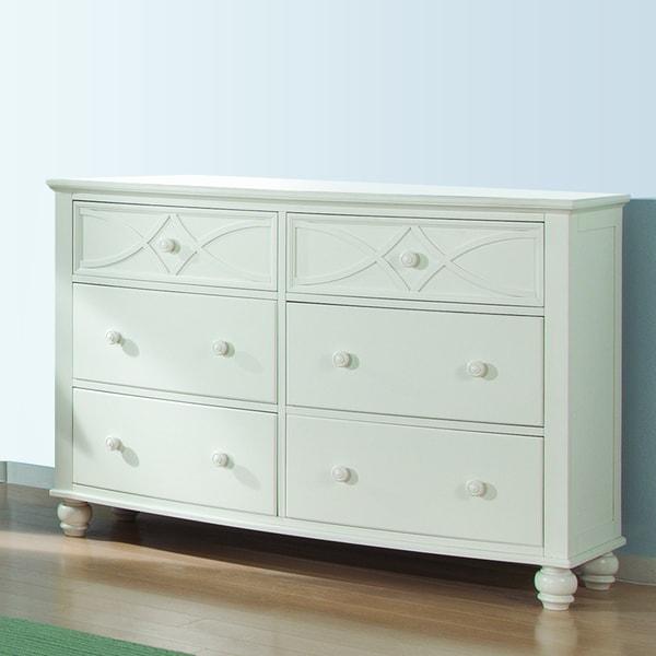 Piston White Modern Cottage 6-drawer Dresser