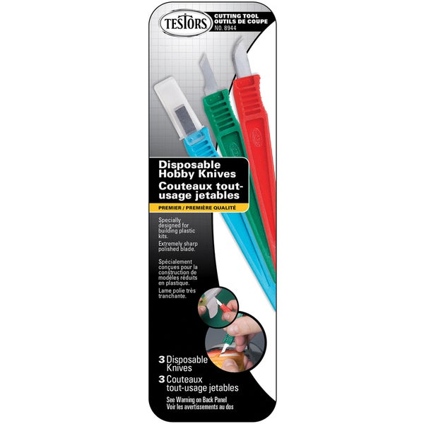 Disposable Hobby Knives 3/Pkg