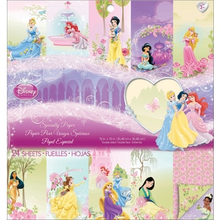"Disney Princess Specialty Paper Pad 12""X12"" 24 Sheets-"