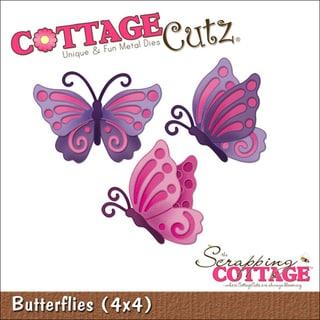 """CottageCutz Die 4""""X4""""-Butterflies"""