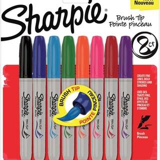 Sharpie Brush Tip Markers 8/Pkg-