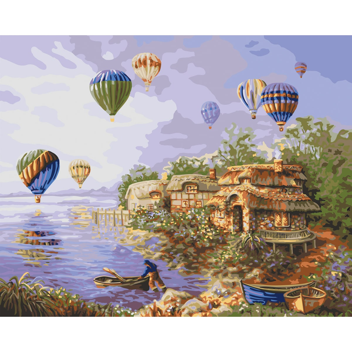 "Paint By Number Kit 16""X20""-Balloons"