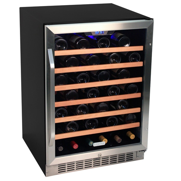 EdgeStar 53-bottle Black Steel Wine Cooler Sold by Living Direct