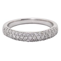 14k White Gold 1/2ct TDW Diamond Band (H-I, I1-I2) - Thumbnail 1