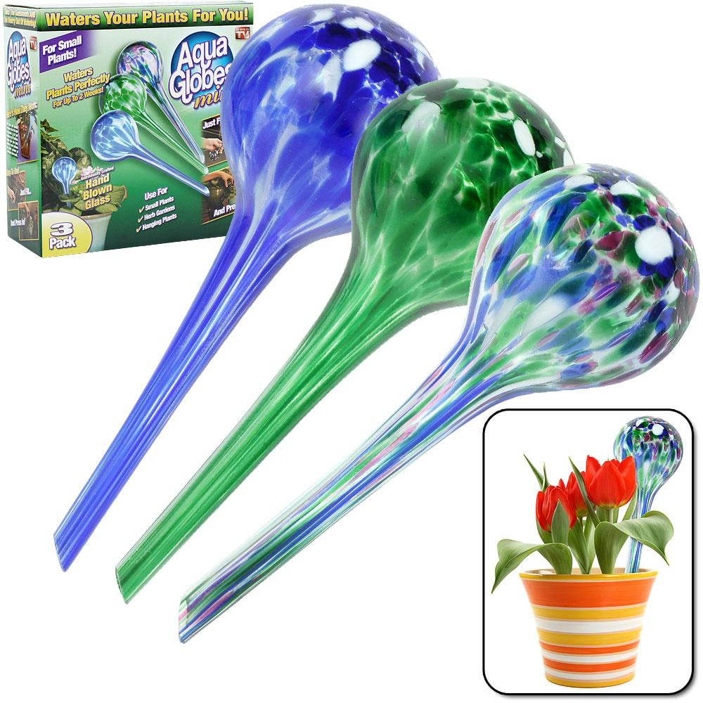 As Seen on TV Plant-watering Aqua Globes (Set of 3)
