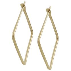 Goldfill 22-mm Square Hoop Earrings