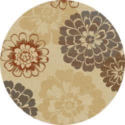 Royal Treasures Floral Rug (5'3 Round)