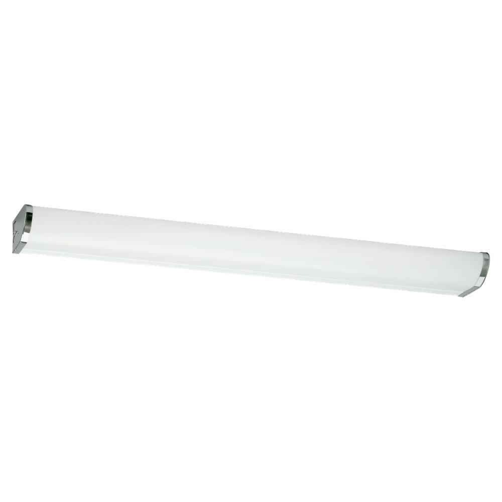 Indoor 2 Light 48 Inch Polished Chrome Fluorescent Linear Wall Fixture Free Shipping Today
