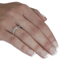 Journee Sterling Silver Dolphin Head and Tail Ring - Thumbnail 2