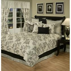 Sherry Kline Preston Black/ Off White 7-piece Comforter Set