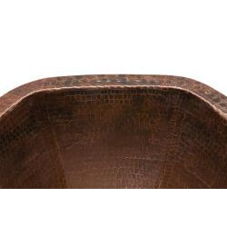 Premier Copper Products Hexagon Under Counter Hammered Copper Sink - Thumbnail 2