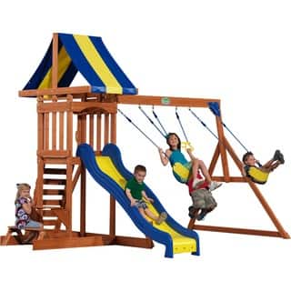 Wood Backyard Discovery Outdoor Play For Less Overstock