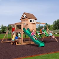 Backyard Discovery 30211 Montpelier All Cedar Swing Set Play Set