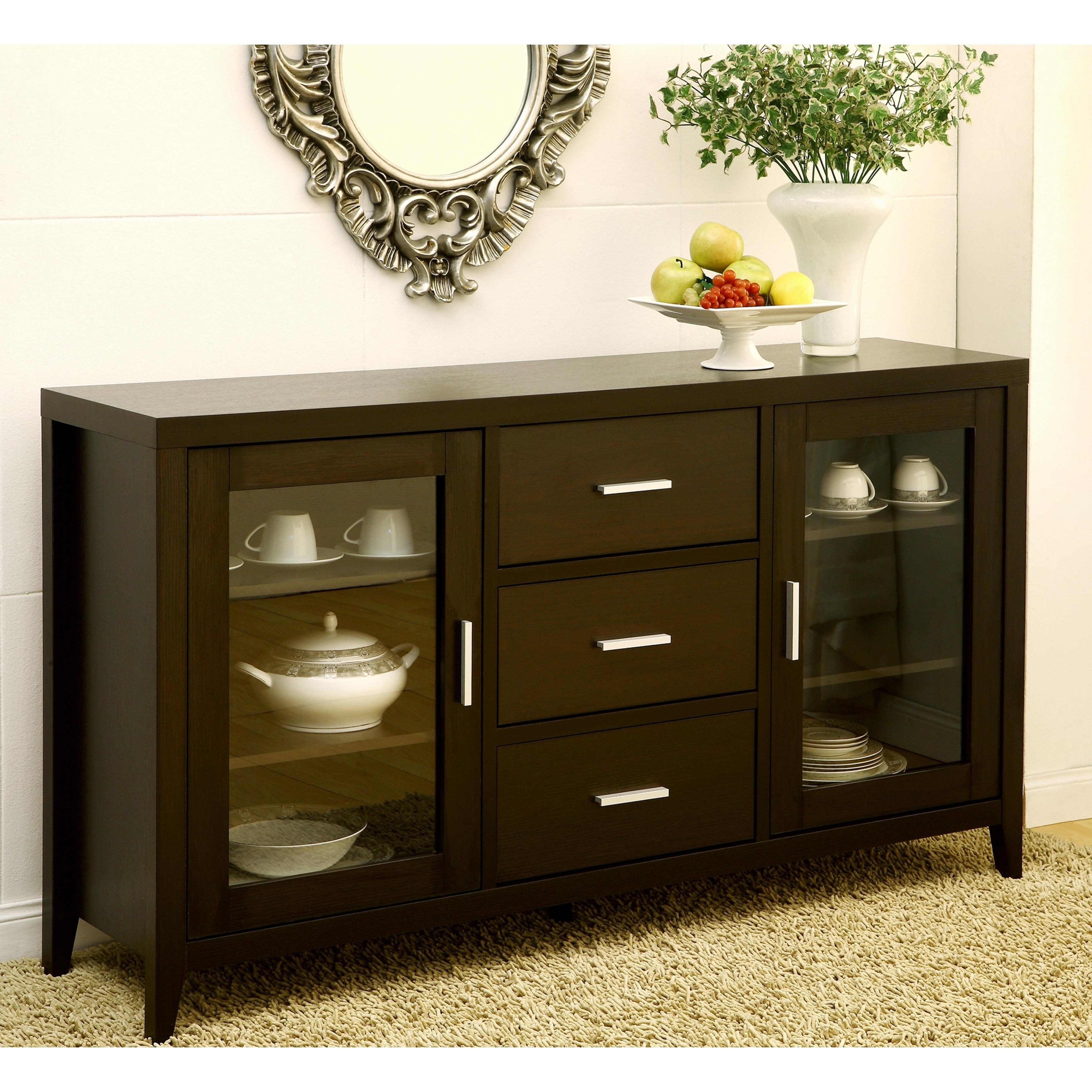 Furniture of America Metropolitan Dining Buffet/TV Cabine...