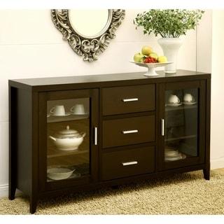 Furniture of America Metropolitan Dining Buffet/TV Cabinet in Dark Espresso